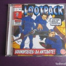 CDs de Musique: LOOTPACK – SOUNDPIECES: DA ANTIDOTE - CD GROOVEATTACK 1999 - HIP HOP LEGENDARIO - SIN USO. Lote 254759935