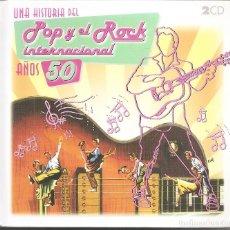 CDs de Música: POP Y ROCK INTERNACIONAL AÑOS 50 - VARIOS (DOBLE CD DIGIPACK + LIBRETO DE 100 PAG. RTVE 2008). Lote 254803860