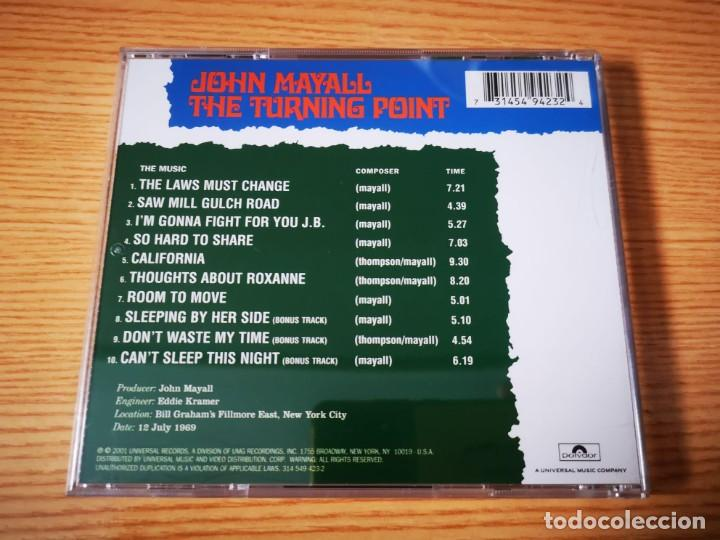 CDs de Música: CD DE JOHN MAYALL - THE TURNING POINT - COMO NUEVO | UNIVERSAL RECORDS | - Foto 3 - 254907795