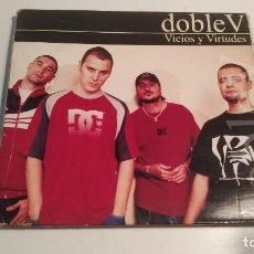 CDs de Música: DOBLE V - VICIOS Y VIRTUDES -- FIRMADO POR LOS CUATRO COMPONENTES -- SOLO CARATULA SIN CD. Lote 254910920
