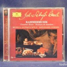 CDs de Música: BACH / MUSICA ANTIQUA KÖLN, REINHARD GOEBEL - KAMMERMUSIK - CHAMBER MUSIC - MUSIQUE DE CHAMBRE - CD. Lote 254919830