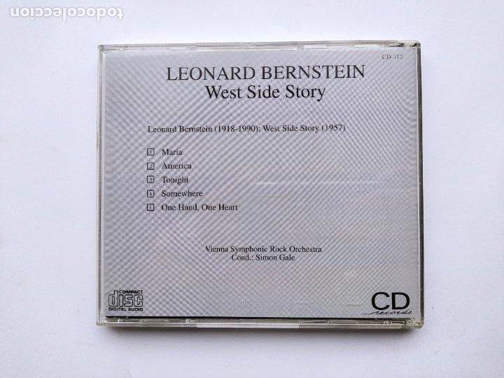 CDs de Música: LEONARD BERNSTEIN. WEST SIDE STORY. CD. TDKCD38 - Foto 3 - 254958610