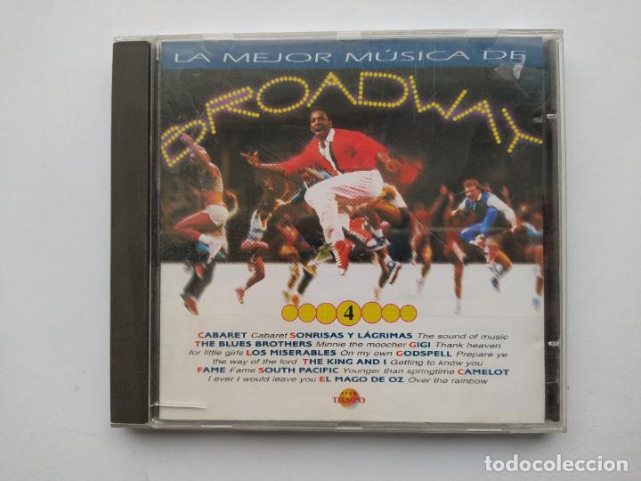 LA MEJOR MUSICA DE BROADWAY. Nº 4. CD. TDKCD38 (Música - CD's Bandas Sonoras)