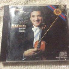 CDs de Música: MOZART VIOLIN CONCERTO NO 4 PINCHAS ZUKERMAN SAINT PAUL CHAMBER ORCHESTRA. Lote 255018235