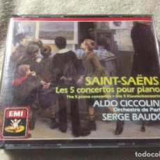 CDs de Música: SAINT-SAENS - LOS 5 CONCIERTOS PARA PIANO - 2CDS ALDO CICCOLINI PARIS SERGE BAUDO. Lote 255020585