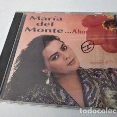 CDs de Música: MARIA DEL MONTE (CD) AHORA AÑO – 1991. Lote 255306290