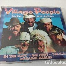 CDs de Música: VILLAGE PEOPLE - TODOS SUS EXITOS MEGAMIX MEDLEY CD SINGLE. Lote 255306500
