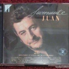 CDs de Música: JUAN PARDO (SINCERAMENTE JUAN - 26 GRANDES EXITOS) 2 CDS 1992 1ª EDICIÓN. Lote 255357750