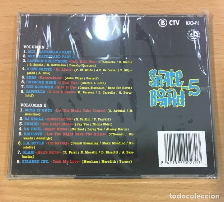 CDs de Música: DOBLE CD SKATE BOARD 5. BLANCO Y NEGRO, 1993. PRECINTADO - Foto 3 - 255489000