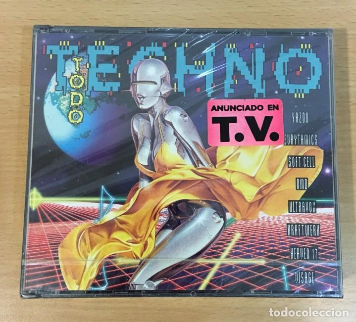 DOBLE CD TODO TECHNO. CBS SONY, 1992. PRECINTADO (Música - CD's Techno)