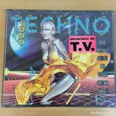 CDs de Música: DOBLE CD TODO TECHNO. CBS SONY, 1992. PRECINTADO. Lote 255489280