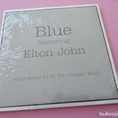 CDs de Música: PRECINTADO! BLUE & ELTON JOHN SORRY SEEMS TO BE THE HARDEST WORD CD SINGLE PROMO CARTON 2002. Lote 255631260