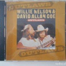 CDs de Música: WILLIE NELSON & DAVID ALLAN COE. OUTLAWS. COMPACTO CON 12 TEMAS.. Lote 255934775