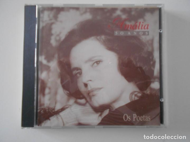 AMALIA. 50 ANOS. OS POETAS. AMALIA RODRIGUES. COMPACTO EMI CON 22 CANCIONES. (Música - CD's World Music)