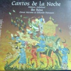 CD de Música: CD CANTOS DE LA NOCHE. MUSÍCA ANDALUSÍ. IBN BÁYA. OMAR METIOUI & EDUARDO PANIAGUA. Lote 255998575