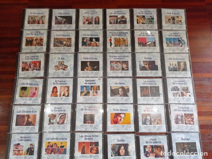"""LOTE DE 36 CDS """"LA MÚSICA DE TU VIDA"""" DE PLANETA AGOSTINI. COLECCION.POP ESPAÑOL. (Música - CD's Flamenco, Canción española y Cuplé)"""