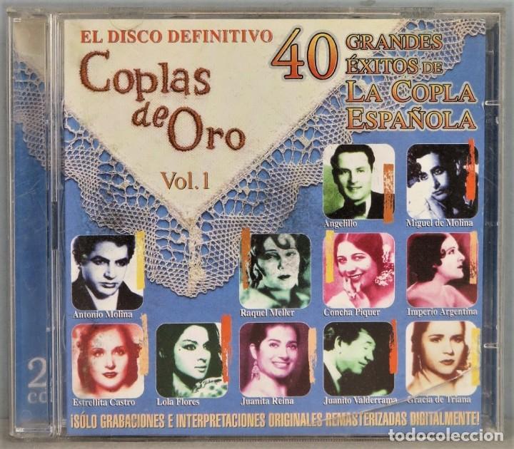 2 CD. COPLAS DE ORO. VOL. 1. 40 GRANDES ÉXITOS (Música - CD's Flamenco, Canción española y Cuplé)