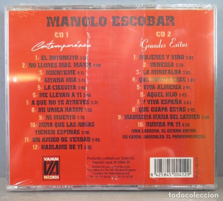 CDs de Música: 2 CD. MANOLO ESCOBAR. CONTEMPORANEO. PRECINTADO - Foto 2 - 256031045