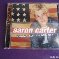 CDs de Música: AARON CARTER – AARON'S PARTY (COME GET IT) - CD JIVE 2000 - EUROPOP DISCO - FANS - LEVE USO. Lote 256064165