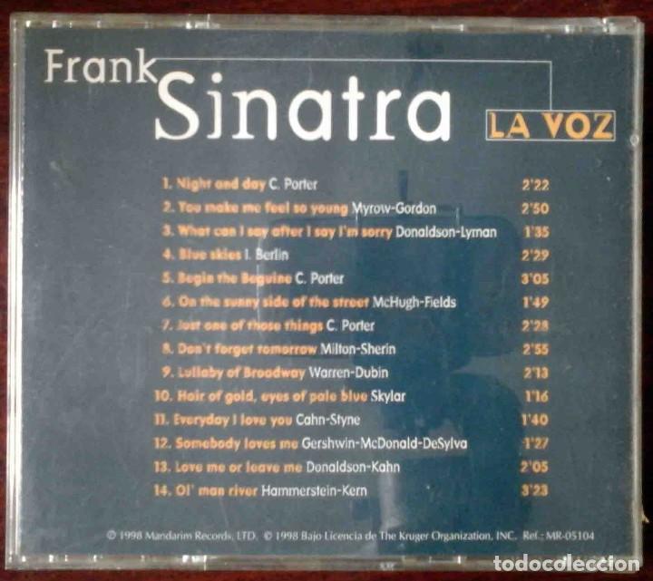 CDs de Música: CD: Frank Sinatra - La Voz - 14 temas originales - Foto 3 - 256087665