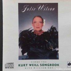 CDs de Música: JULIE WILSON. SINGS THE KURT WEILL SONGBOOK.CON WILLIAM ROY. CD USA. Lote 256108030