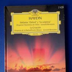 CDs de Música: HAYDN - OXFORD - LA SORPRESA - LA CREACION - LIBRO Y 2 DVD. Lote 256127845