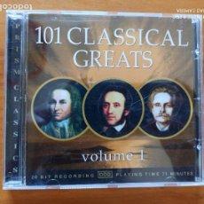 CDs de Música: CD 101 CLASSICAL GREATS VOLUME 1 (5I). Lote 256161950