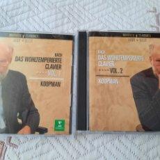 CDs de Música: TON KOOPMAN, BACH, EL CLAVE BIEN TEMPERADO. Lote 256163160
