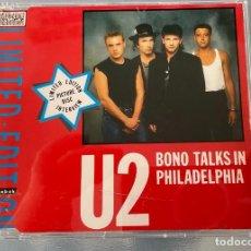 CDs de Música: U2 BONO TALKS IN PHILADELPHIA CD LIMITED EDITION. Lote 257295000