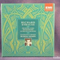 CDs de Música: RICHARD STRAUSS - STAATSKAPELLE DRESDEN, RUDOLF KEMPE - ORCHESTRAL WORKS - 9 CD. Lote 257309995