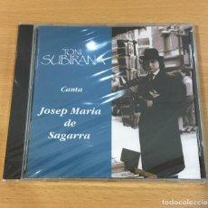 CDs de Música: CD DE TONI SUBIRANA - CANTA A JOSEP MARIA DE SAGARRA. URANTIA RECORDS, 1994. PRECINTADO. Lote 257340510