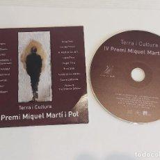CDs de Música: TERRA I CULTURA / IV PREMI MIQUEL MARTÍ I POL / CD- EDR-2012 / 18 TEMAS / IMPECABLE.. Lote 257417695
