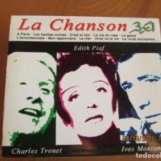 CDs de Música: LA CHANSON , CHARLES TRENET , IVES MONTAND, EDITH PIAF - 3 CD,S. Lote 257607640