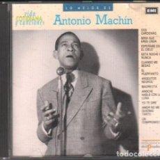CDs de Música: LO MEJOR DE ANTONIO MACHIN - COLECCION VIDA COTIDIANA Y CANCIONES / CD ALBUM / BUEN ESTADO RF-9706. Lote 257700565