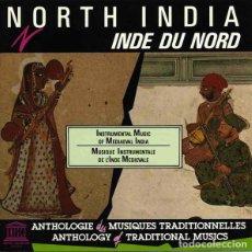 CDs de Música: NORTH INDIA (INSTRUMENTAL MUSIC OF MEDIAEVAL INDIA) - CD. Lote 257700810