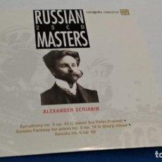 CDs de Música: CD RUSSIAN MASTERS ( ALEXANDER SCRIABIN ) 2009 CASCADE - DURACIÓN 73:43 - FORMATO CARTON. Lote 257735580