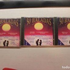 CDs de Música: 3CD'S VARIOS ARTISTAS *50 BALADAS INOLVIDABLES 1, 2, 3*, DIVUCSA. 1992. Lote 257865950