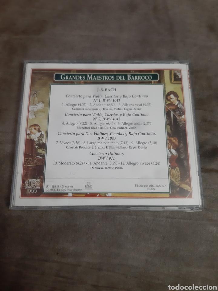 CDs de Música: Cd Grandes Maestros del Barroco (Bach) - Foto 2 - 257976270