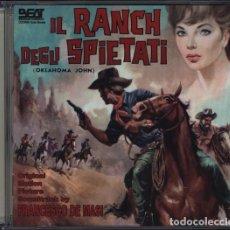 CDs de Música: IL RANCH DEGLI SPIETATI / FRANCESCO DE MASI CD BSO. Lote 258225850