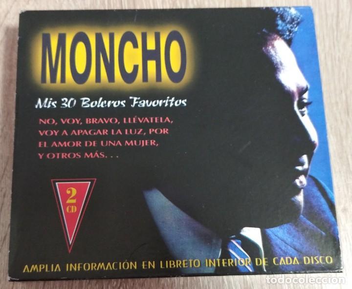 CD ORIGINAL DOBLE 2 CDS - MONCHO - MIS 30 BOLEROS FAVORITOS - NO, VOY, BRAVO, LLEVATELA (Música - CD's Latina)