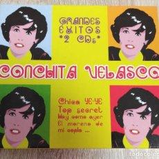 CDs de Música: CD ORIGINAL DOBLE 2 CDS - CONCHITA VELASCO - GRANDES EXITOS - CHICA YE YE, TOP SECRET. Lote 258256510