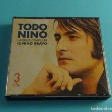 CDs de Música: NINO BRAVO. TODO NINO. LA OBRA COMPLETA DE NINO BRAVO. CAJA CON TRES CD. Lote 258522185