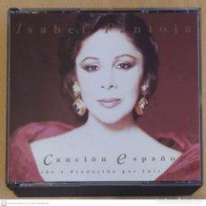 CDs de Música: ISABEL PANTOJA (LA CANCION ESPAÑOLA) 2 CD'S 1990 - DIRIGIDO POR LUIS COBOS. Lote 267822829