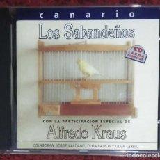 CDs de Música: LOS SABANDEÑOS CON ALFREDO KRAUS (CANARIO) CD 1993 - CON OLGA RAMOS, OLGA CERPA Y JORGE VALDANO. Lote 259258755