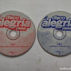 CDs de Música: LOTE 2 CDS - DISCO ALEGRIA 2002 - CD1+CD 2 - SOLO CDS. Lote 259273525