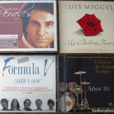 CDs de Música: LOTE 5 CDS (JOSÉ LUÍS PERALES, LUÍS MIGUEL, FORMULA V, AÑOS 60) CON 2 DVDS -LEER-. Lote 259949265