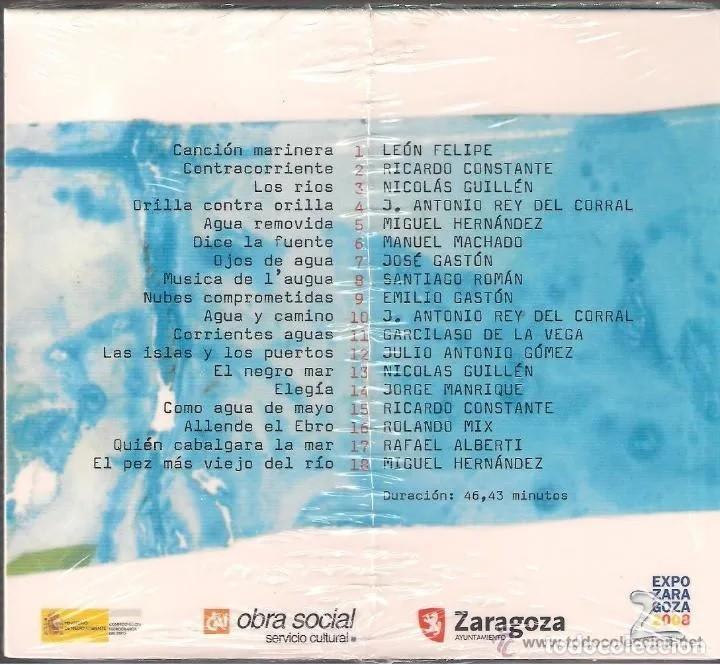 CDs de Música: Monte Solo - Agua. Poesía cantada por Monte Solo. CD Producciones sin/con pasiones 2007 Nuevo Prec. - Foto 2 - 260053285