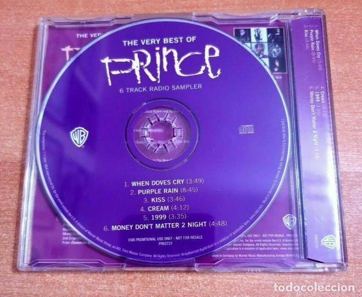 CDs de Música: PRINCE Purple Rain CD MAXI SINGLE PROMO DEL AÑO 2001 ALEMANIA PLASTICO CONTIENE 6 TEMAS - Foto 2 - 261117980
