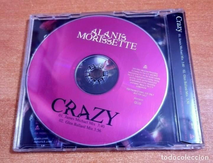 CDs de Música: ALANIS MORISSETTE Crazy REMIXES CD SINGLE PROMO DEL AÑO 2005 ALEMANIA PLASTICO CONTIENE 2 TEMAS - Foto 2 - 261118390
