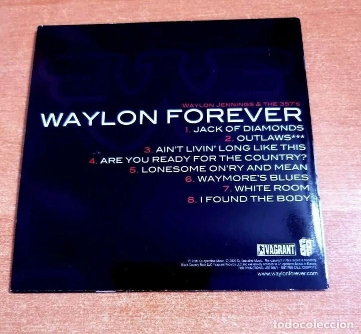CDs de Música: WAYLON JENNINGS & THE 357s Waylon Forever CD ALBUM PROMO 2009 EU CARTON CONTIENE 8 TEMAS - Foto 2 - 261120225